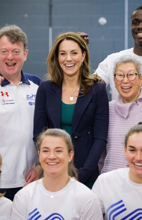Duchess of Cambridge in Green Zara for Sports Aid Event