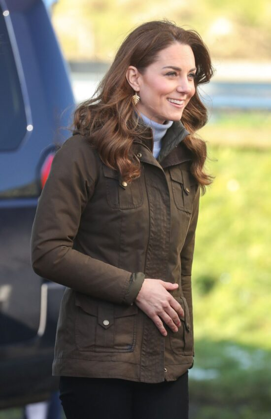 Kate Middleton in Barbour Jacket for Visit to Northern Ireland Farm and Stop at Social Cafe