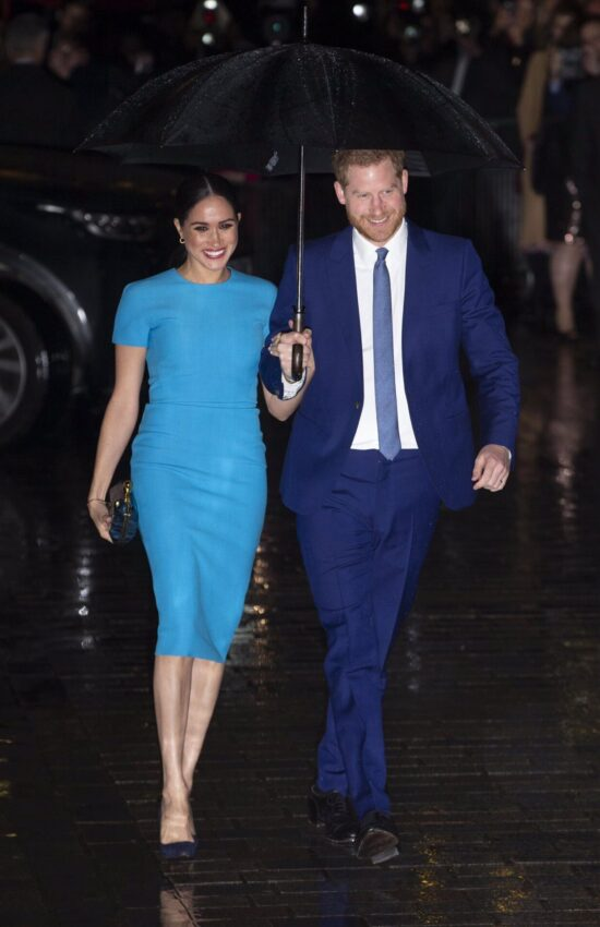 Meghan Markle Stuns in Blue Victoria Beckham Pencil Midi Dress for Endeavour Awards
