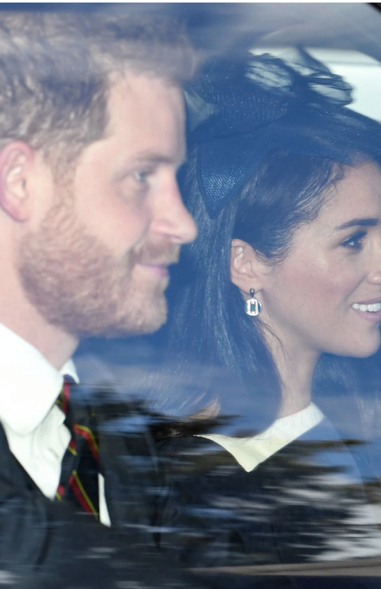 Meghan Markle Wears Laura Vann Earrings and Givenchy at Church Service with the Queen