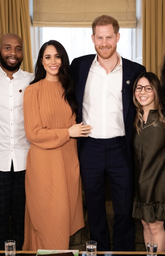 Meghan Markle Wears Preen by Thornton Bregazzi Glenda Dress for Youth Leaders Meeting
