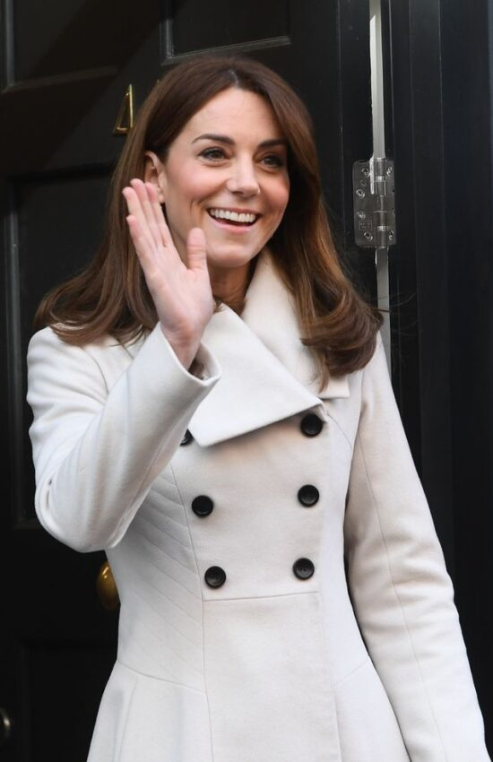 Kate Middleton in Reycled Reiss Coat for Second Day of Ireland Tour