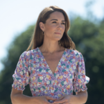 Kate Middleton in Faithfull Floral Midi for Visit to the Nook