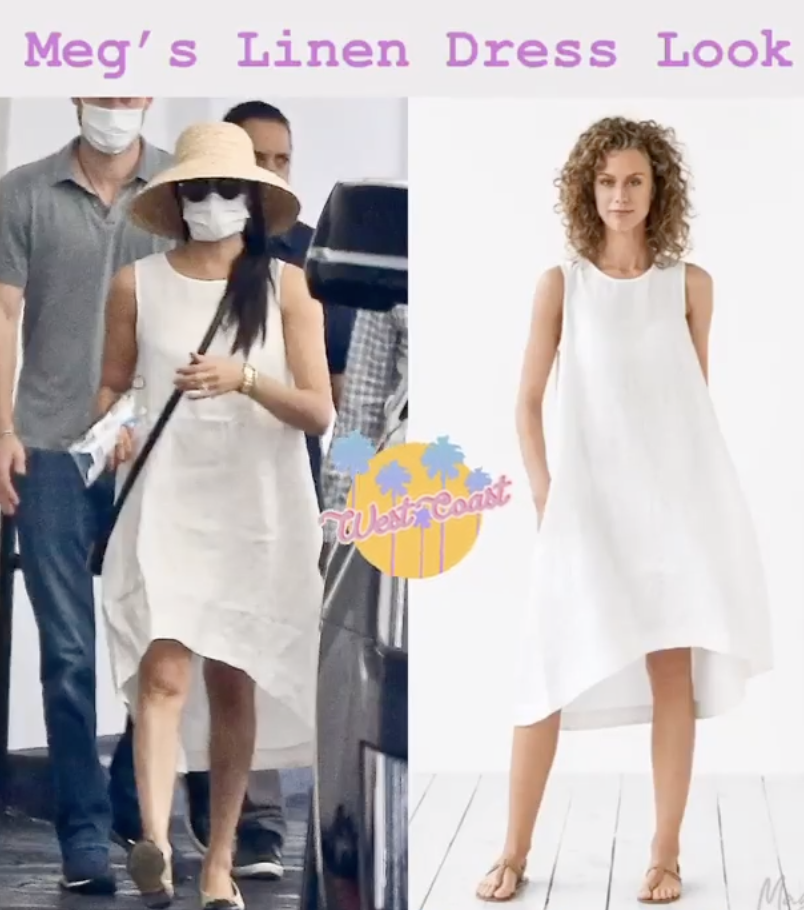 meghan markle in magic linen toscana dress in beverly hills dress like a duchess meghan markle in magic linen toscana