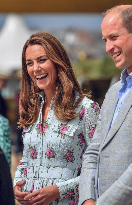 Kate Middleton in Floral Emilia Wickstead Dress for Arcade Stop