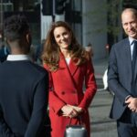 Kate Middleton in Red Alexander McQueen Coat for Photo Exhibit Launch
