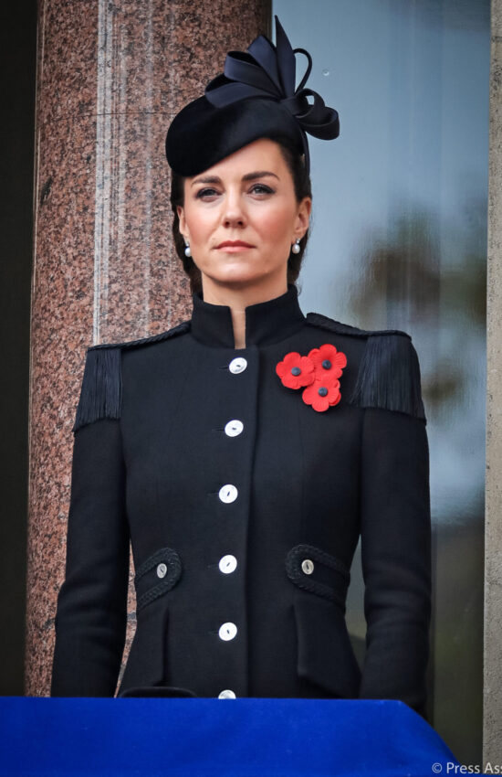 Kate Middleton Wears Catherine Walker Coat for Remembrance Sunday