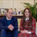 Kate Middleton in Cheery Tartan Plaid for Video Call Celebrating Burns Night
