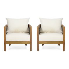 Noble House Rattler Acadia Wood Outdoor Chairs-Meghan Markle