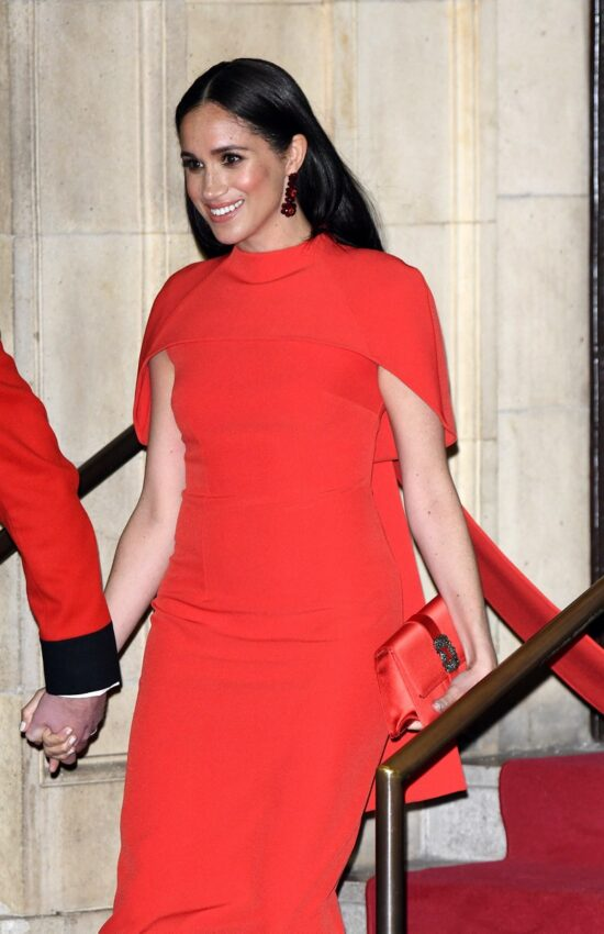 Meghan Markle's Stunning Safiyaa Cape Gown is Now Available in Multiple Colors