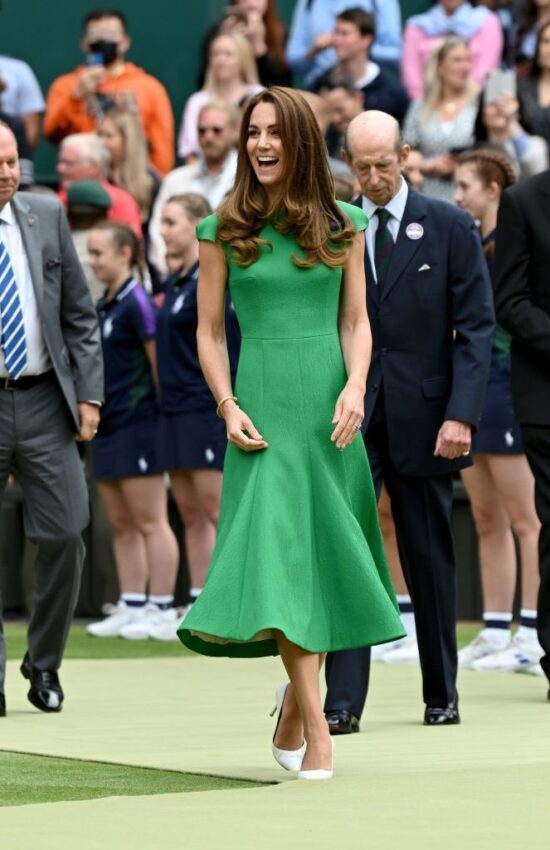 Kate Middleton in Green Emilia Wickstead For Wimbledon Finals
