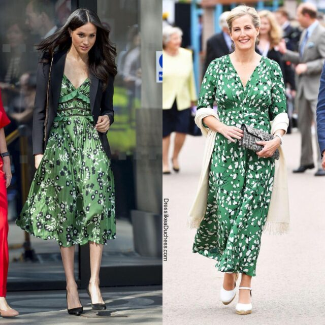 Wishing the Countess of Wessex a very Happy Birthday today! Here's a few times the Countess and the Duchess of Sussex's style were in sync! #fashion #birthday #twinning #style #meghanmarkle #royal #dress #styleinspo #outfits #elegant #matchingoutfits #fashionstyle #fashiongram #styleblogger #styleoftheday