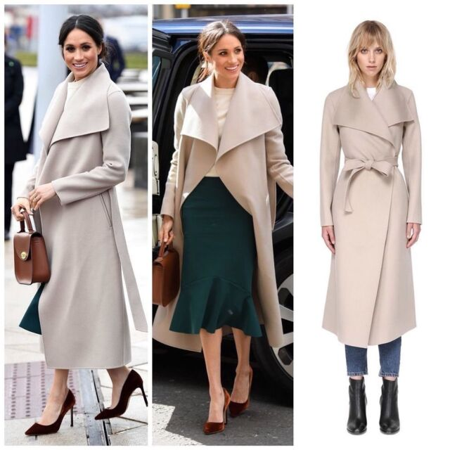 Wrap Stars! Another look at the many famous faces who have worn the Mackage 'Mai' wrap coat like the Duchess of Sussex. The double face wool coat with a waterfall collar features a sash belt, leather welt pockets and semi-fitted silhouette at the waist. The duchess wore the maxi length coat with an asymmetrical wrap closure in the color 'sand' in Belfast in March 2018. Many other celebrities have donned the hand-stitched winter topper including: Lucy Hale, Lupita Nyong'o, Kristin Cavallari, Dynasty star Elizabeth Gillies, Jaime King, Jane Fonda, Victoria Justice, Nina Dobrev and Emily Blunt.// Shop the coat today on our LIKEtoKNOW.it page (link in bio) or checkout our IG stories. #fashion #fashionstyle #lookbook #celebrity #jacket #coat #styleinspo #star #meghanmarkle #styleinspiration #outfit #wrapcoat #glam #style #fashionblogger #fashionable #trendy #best #look