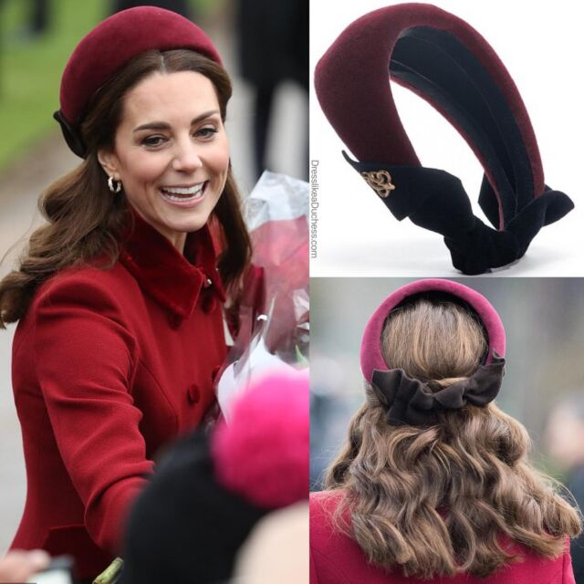 Band Leader! In recent years, the Duchess of Cambridge has become fond of the headband in lieu of a fascinator or other headpiece for formal functions and official royal engagements. From a sparkly Zara black beaded headband for the Festival of Remembrance to a pearl appliqué band by Jane Taylor London for the christening of Prince Louis — Kate has amassed a beautiful collection of padded and pretty headbands. Which is your favorite? #katemiddleton #accessories #headband #outfit #styleblogger #royal #fashion #hair #beauty
