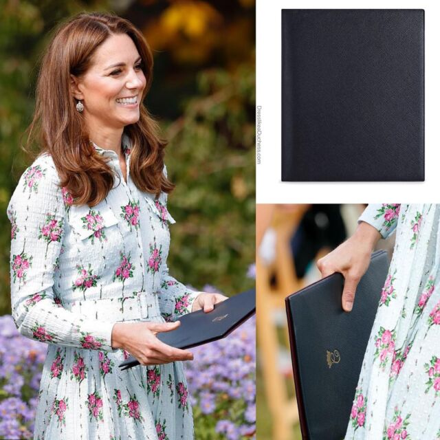 Write Stuff! Duchess Kate and Duchess Meghan are fans of the luxurious leather notebooks and stationary pieces of British handbag and accessories manufacturer Smythson. The leather goods, diaries and fashion products are popular with celebrities like Angelina Jolie, Jessica Alba and Eva Mendes. Kate has a notebook, crossbody and tote from the company while Meghan owns a laptop case and gifted the team at Luminary Bakery with petite personalized notebooks. According to biography Finding Freedom, Meghan gave Kate a soft textured notebook from the brand as a birthday gift. 'Meghan bought a present for the duchess, who had celebrated her birthday just a day earlier,' writes Omid Scobie and Carolyn Durand. 'The soft leather Smythson notebook helped to break the ice, as did Meghan's cooing over then 20-month-old Charlotte.' **Smythson is having a rare sale and 20% off with a code (shop on our LTK page or IG story today). #katemiddleton #meghanmarkle #fashionstyle #notebook #gift #stationary #personalizedgifts #purse #handbag #styleinspo #royal #sale #accessories #travelstyle #stylish