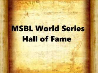 MSBL World Series Hall of Fame