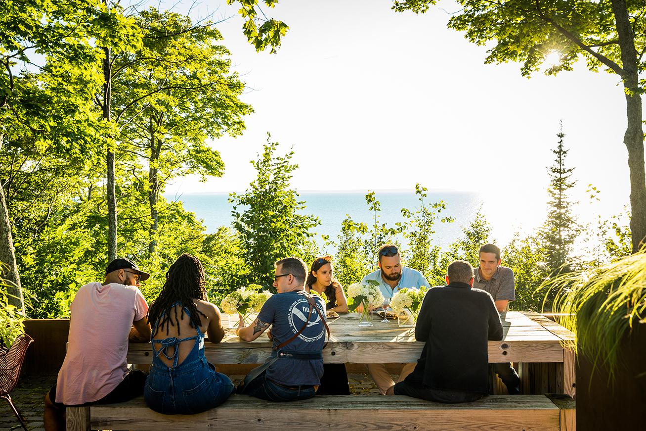 Baia Hosts Rustic Italian Feast on Lake Michigan Shore