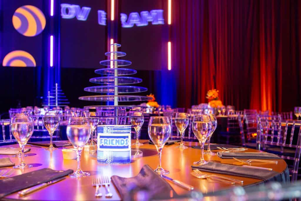 Bram Bar Mitzvah Table Setting