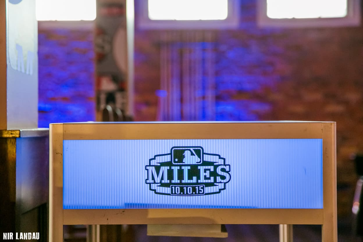 Miles Bar Mitzvah Plaque with Date of Birth