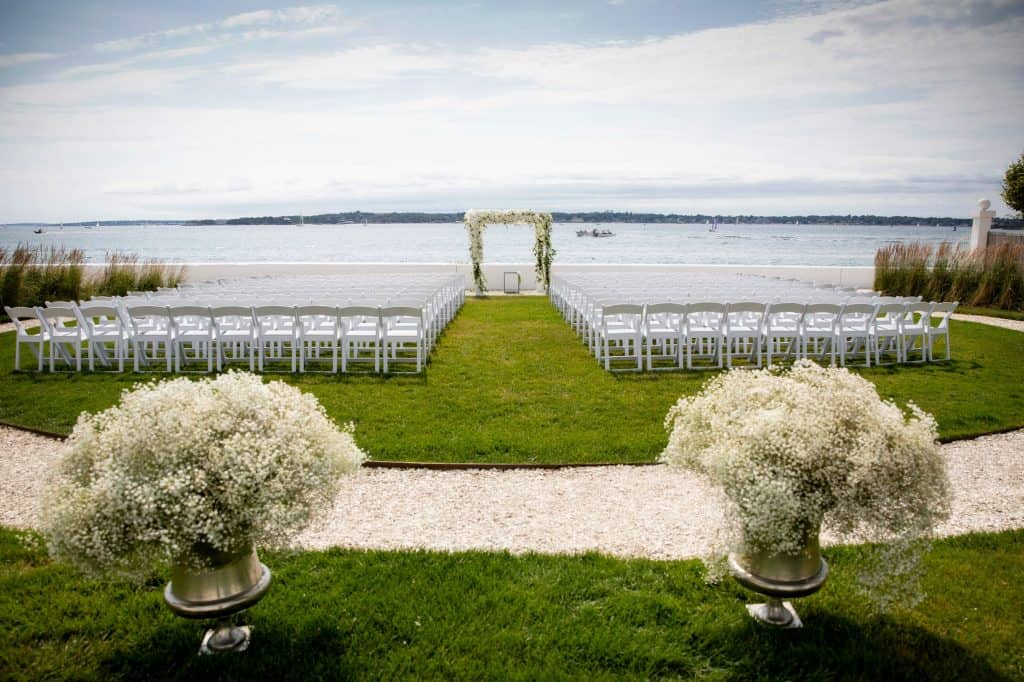Wedding Ceremony overlooking Harbor