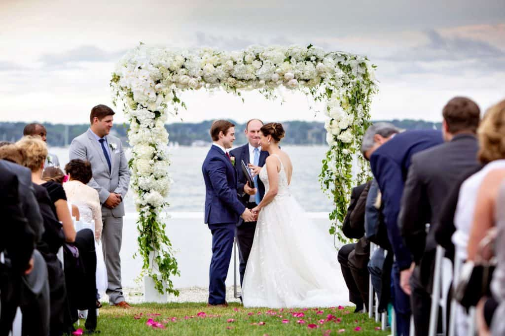 Liz and Nick Under the Chuppah