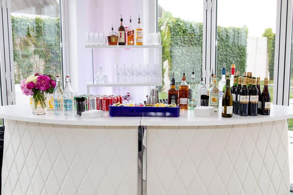 Wet Bar at Wedding Reception