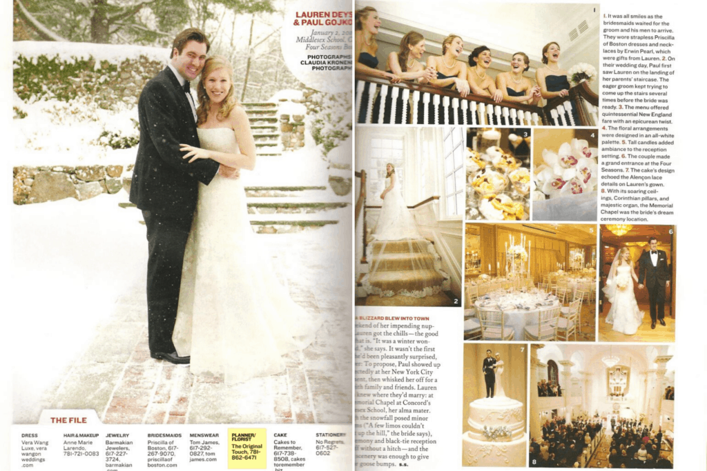 Boston Bridde Magazine Feature Article