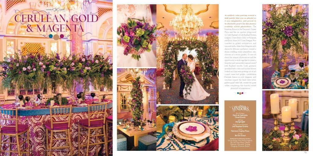 Cerulean Gold Magenta Wedding
