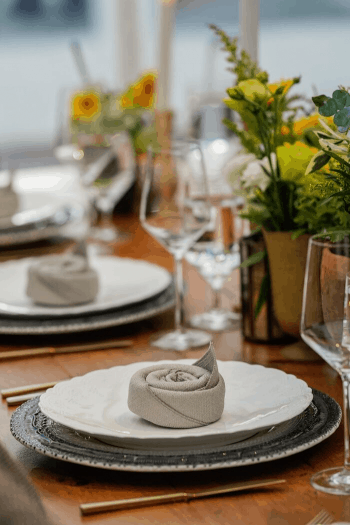 Charming Wedding Place Setting
