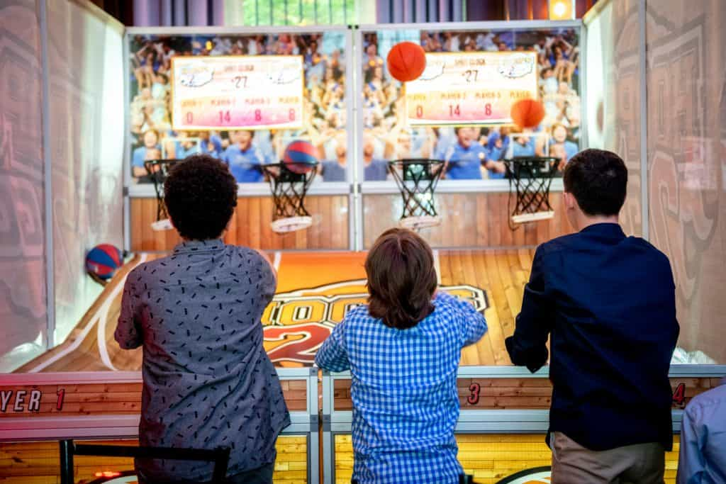 Bar Mitzvah Attendees Playing Basketball
