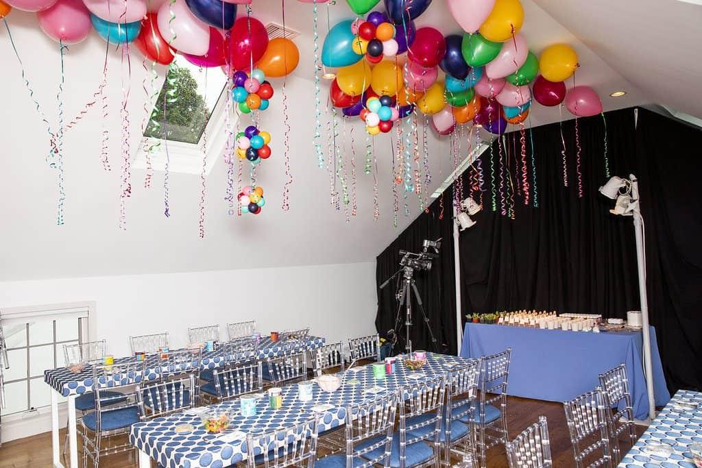 Bat Mitvah Balloons and Tables