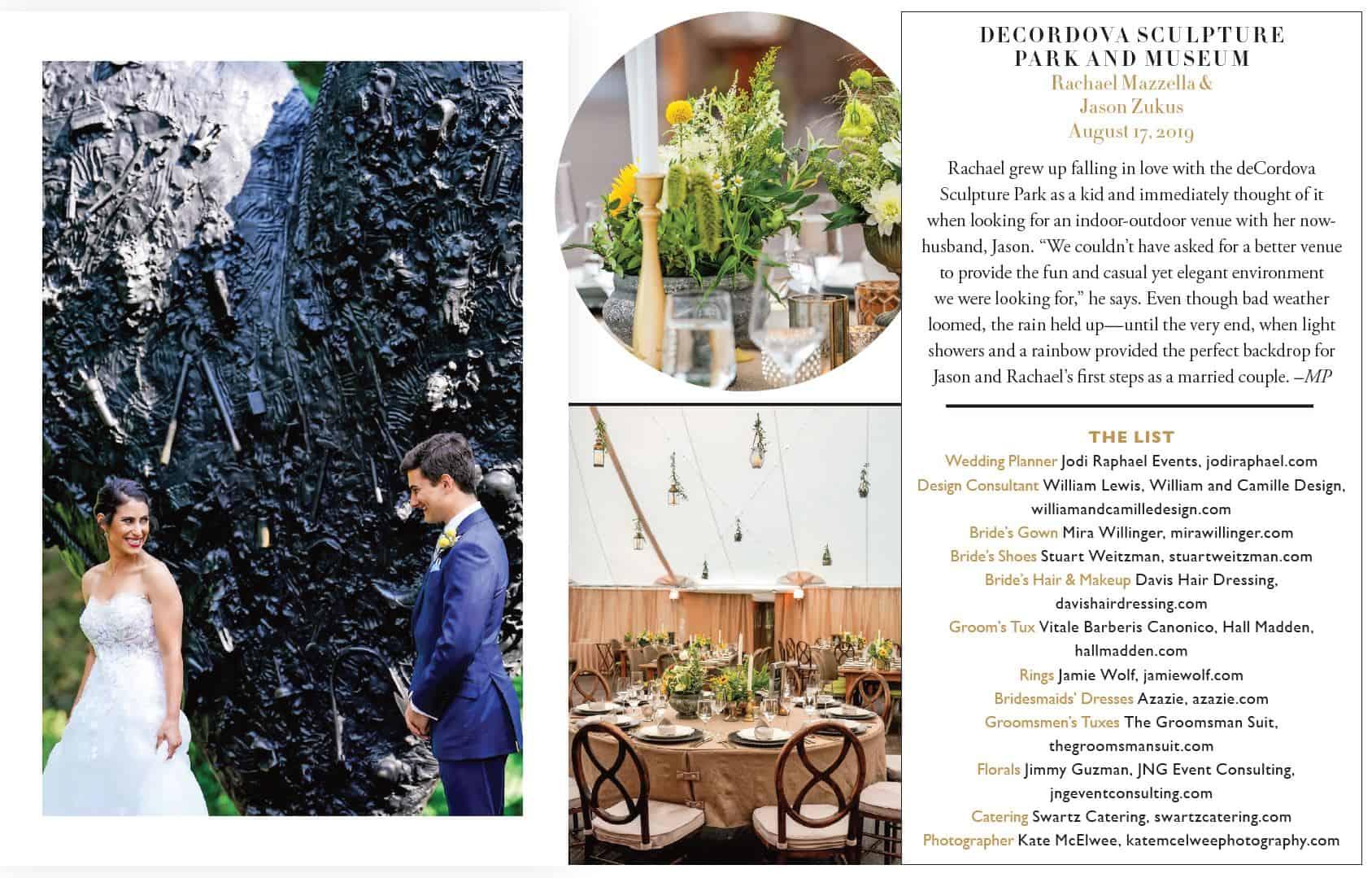 Modern Luxury Bride Magazine Article