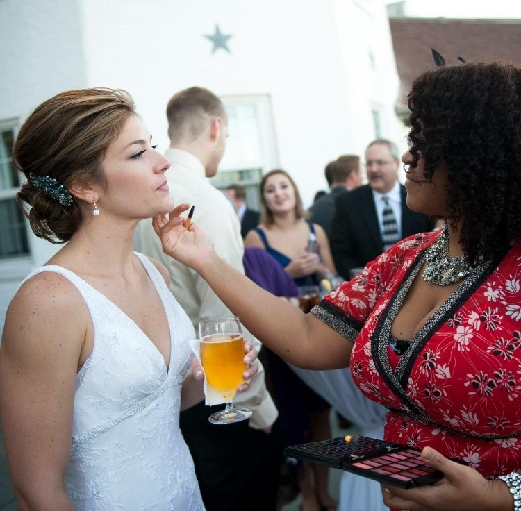 Chantal Ambroise with Bride 2