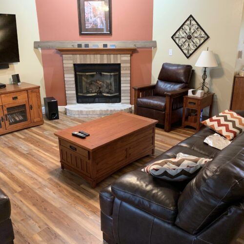Living room wood floors