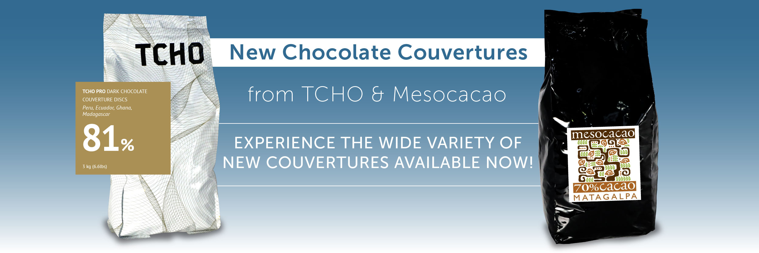 Hi quality chocolate couvertures, cocoa nibs, drinking cocoa and more from Chef Rubber