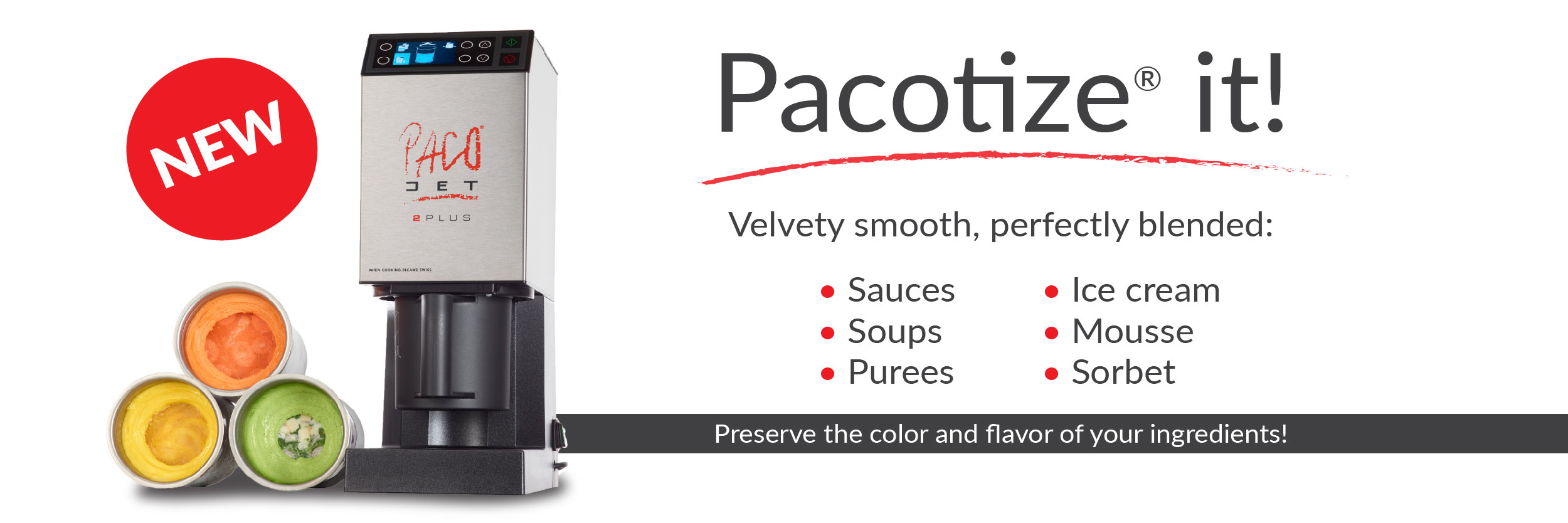PacoJet 2 PLUS System From Chef Rubber
