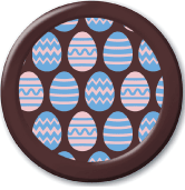 Striped Easter Eggs - Easter Transfer Sheets