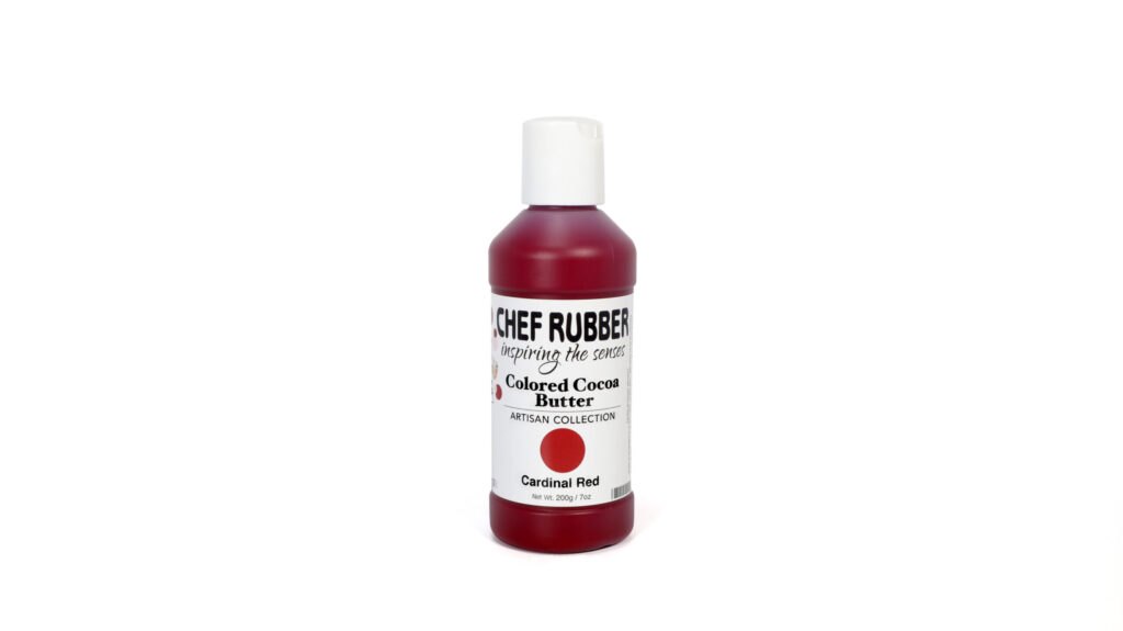 Cardinal Red Colored Cocoa Butter From Chef Rubber On Amazon