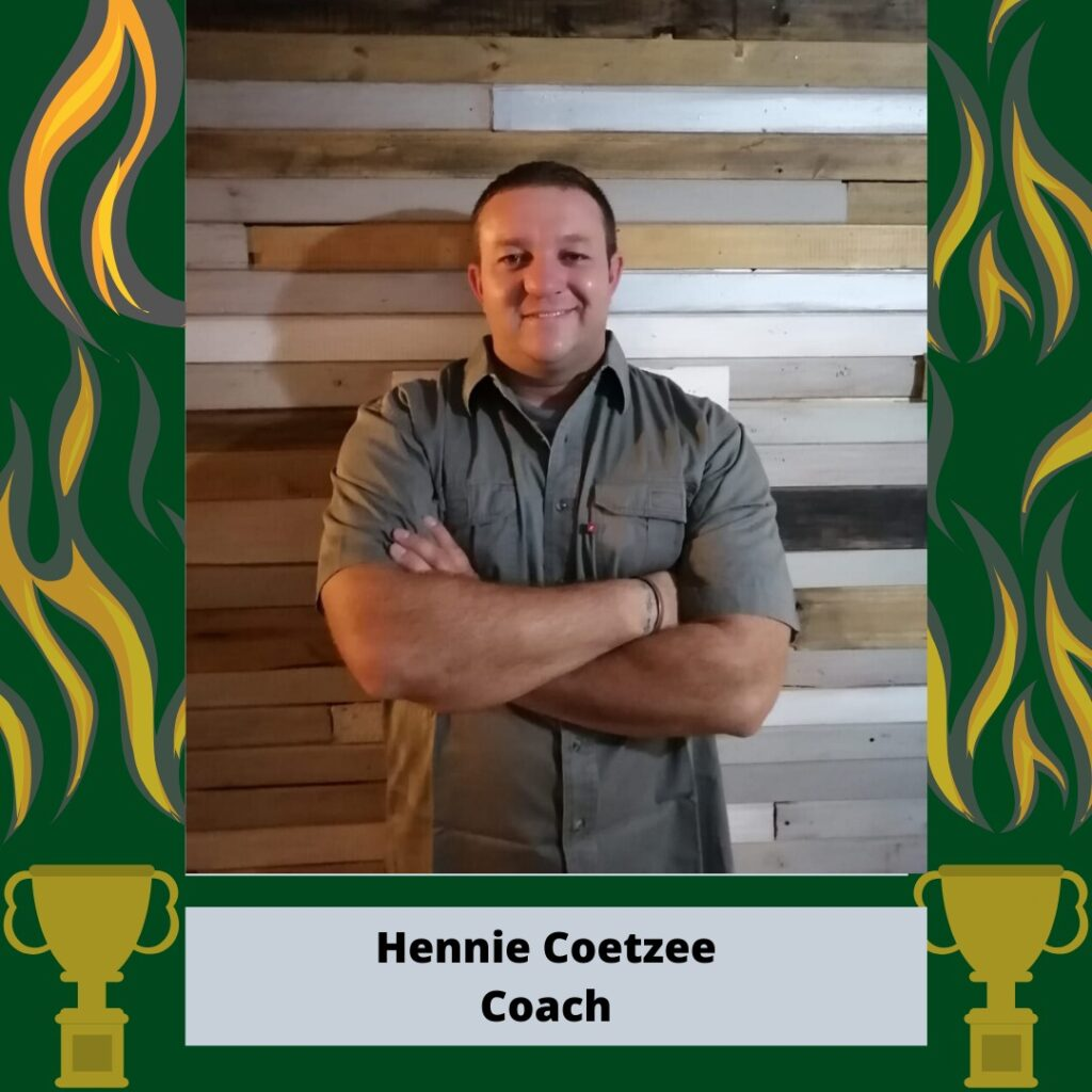 Head Coach Hennie Coetzee