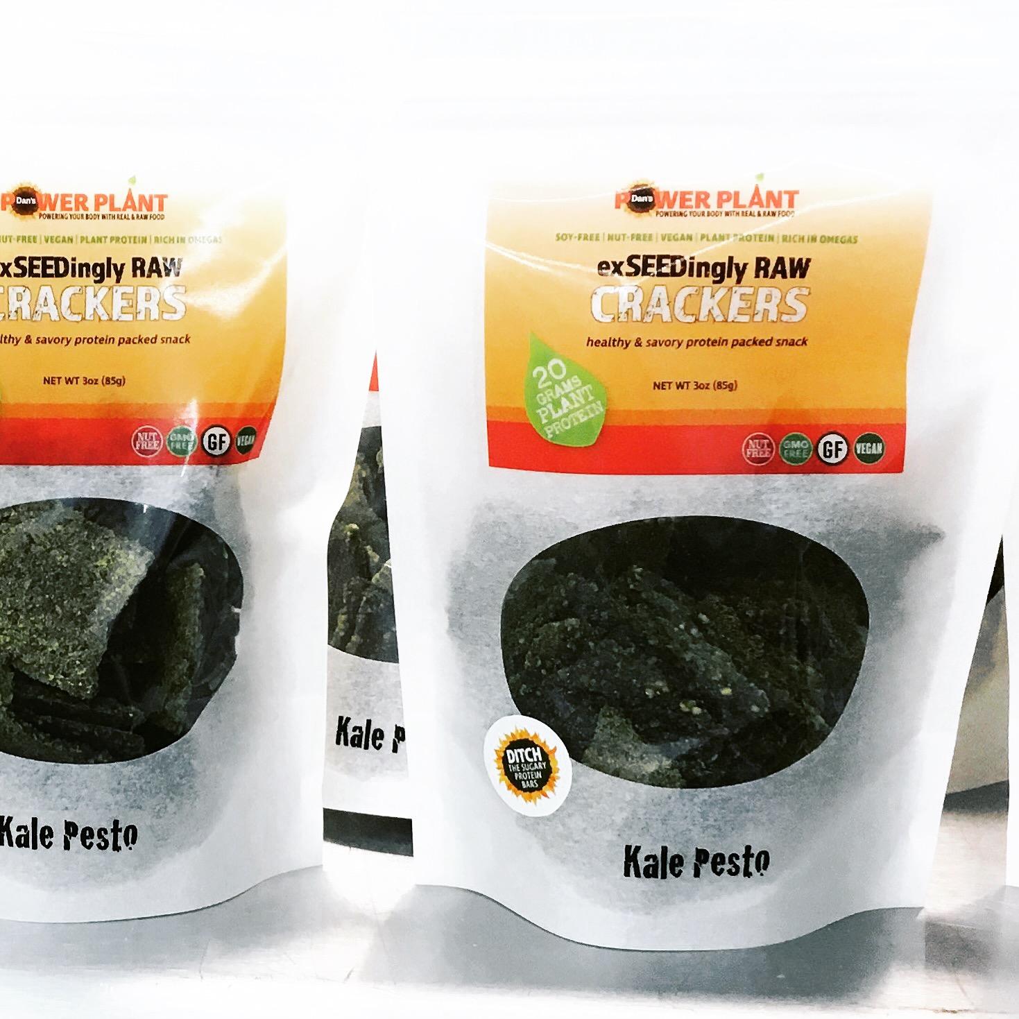 Kale Pesto exSEEDingly RAW Crackers