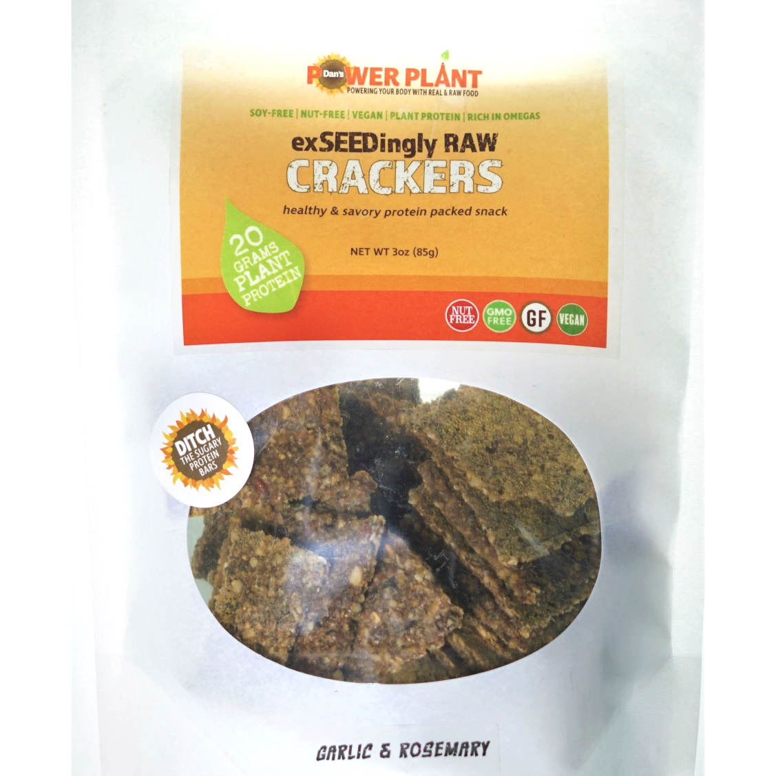 Garlic & Rosemary exSEEDingly RAW Crackers
