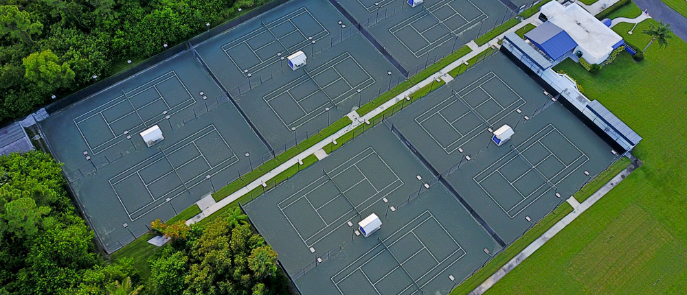 Buttonwood Tennis Club Drone View
