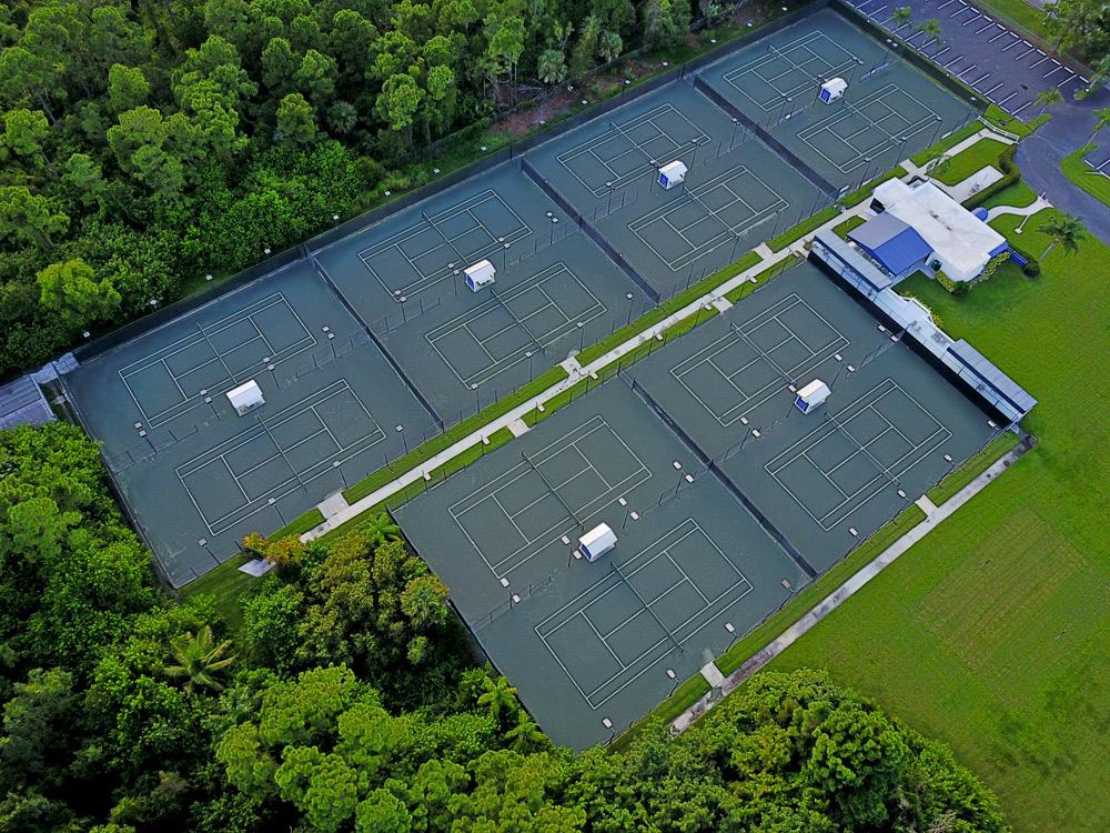 Buttonwood Tennis Club Drone View