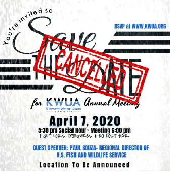 Cancelled Annual Meeting Invitation