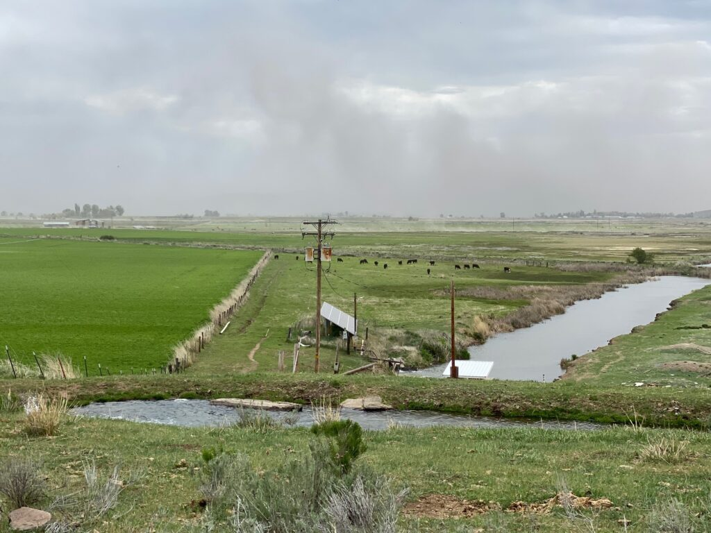 Dust storm in the Klamath Basin