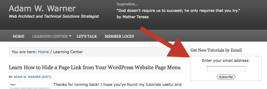 Feedburner email subscription form inside WordPress text widget