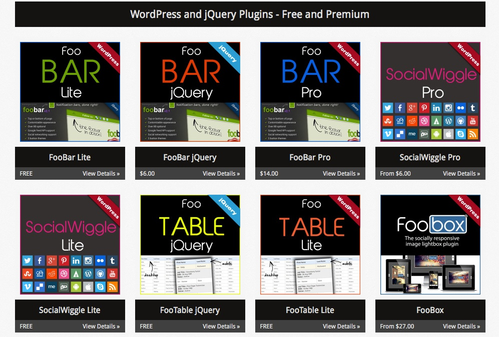 FooPlugins.com - WordPress and jQuery Plugins