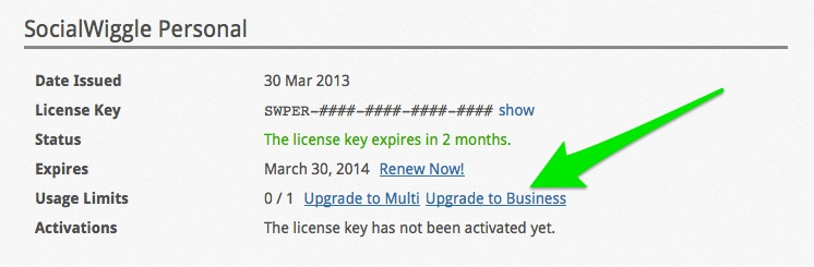 Plugin License Renewals and Upgrades