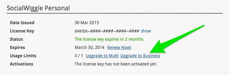 Plugin License Renewals and Upgrades