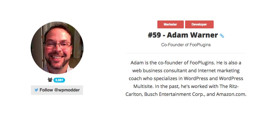 Adam W. Warner - WordPress Consultant